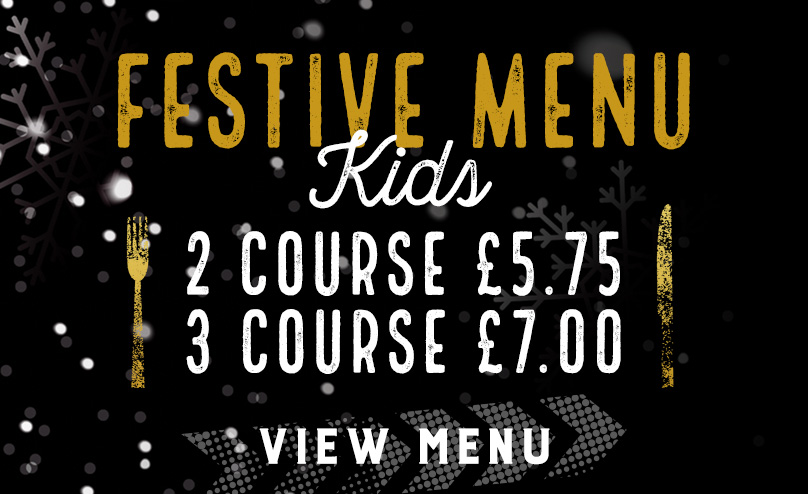 Kids Festive Menu at The Oak